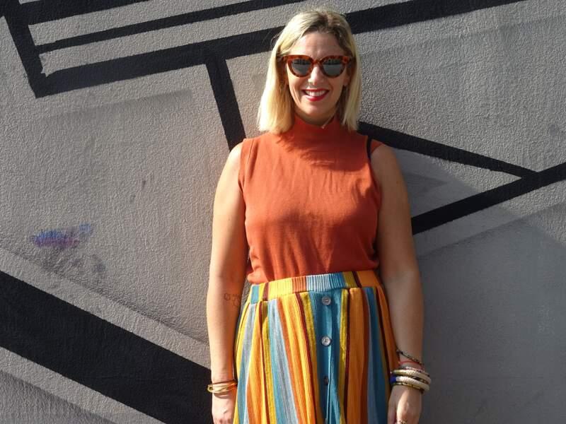 Trois façons de porter des lunettes de soleil originales - Le défi de Virginie