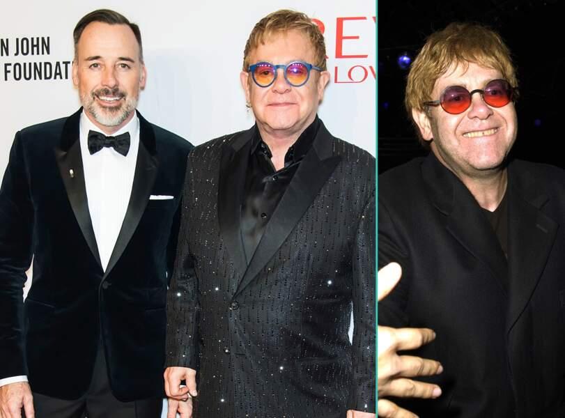 Elton John aujourd'hui à 68 ans et à 53 ans, l'âge actuel de son mari David Furnish