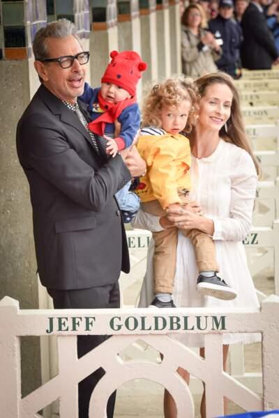 Festival de Deauville 2017 : Jeff Goldblum, sa femme Emilie Livingston et leurs enfants