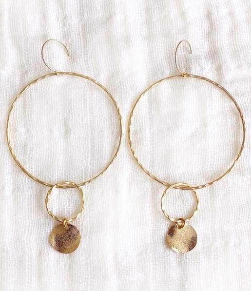 Boucles d'oreilles Avera, Stella Mai, 42€