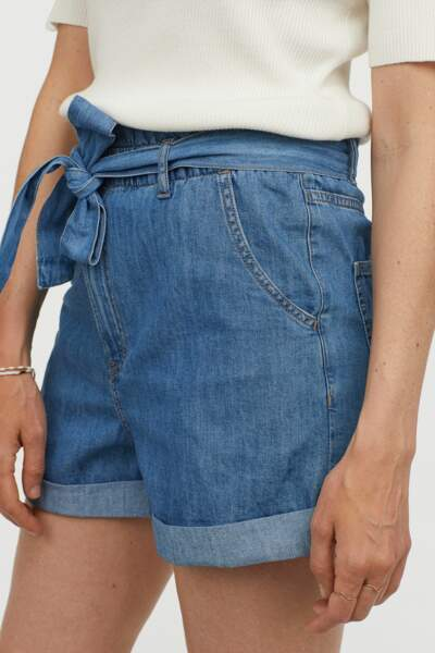 Short paper bag en denim, H&M, 19,99€