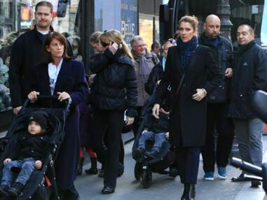 Céline Dion : shopping de Noël avec les jumeaux