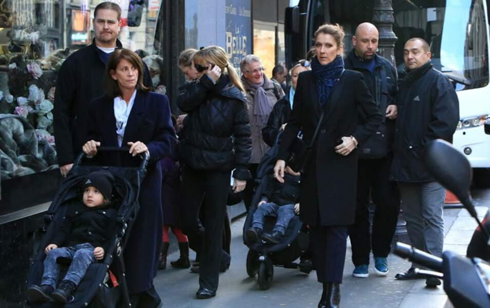 Opération vitrines de Noël pour Céline Dion et sa tribu