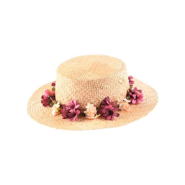 Canotier couronne de fleurs, Tie Rack London, 59,95€