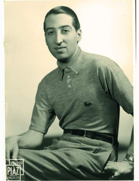 René Lacoste en 1938 avec son polo Lacoste