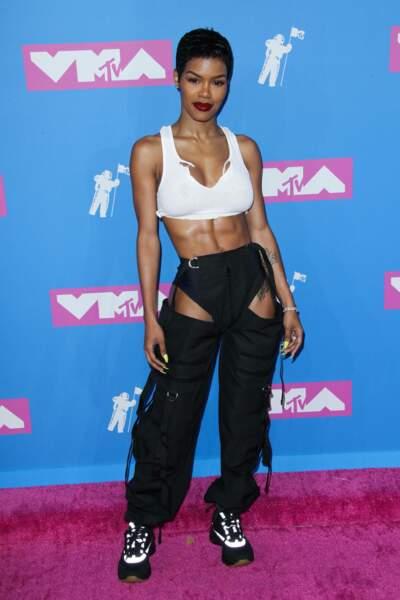 Teyana Taylor aux MTV Video Music Awards 2018, le 20 août, à New York