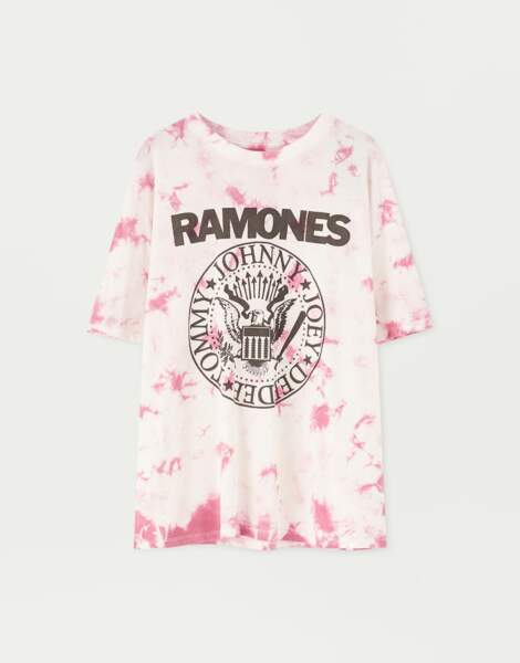 T-shirt Ramones tie and dye, Pull and Bear, 15,99€