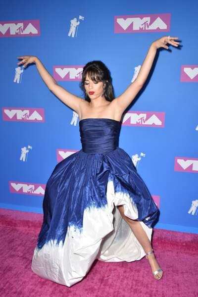 Camila Cabello aux MTV Video Music Awards 2018, le 20 août, à New York