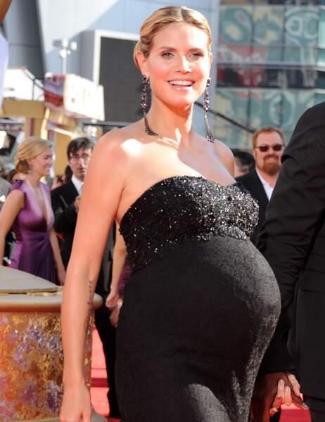 Heidi Klum le 20 septembre 2009 (elle a accouché de sa petite Lou le 9 octobre)