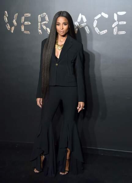 Ciara au défilé Versace, le 2 décembre 2018, à New York