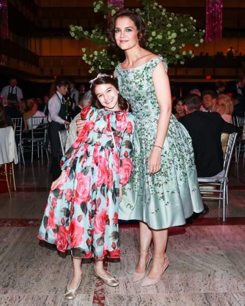 Katie Holmes et Suri Cruise au théâtre de New York