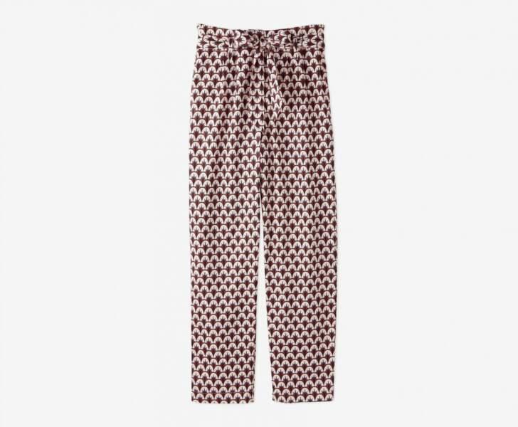 Pantalon Monoprix x Maison Château Rouge, 100% satin de coton, 40 euros