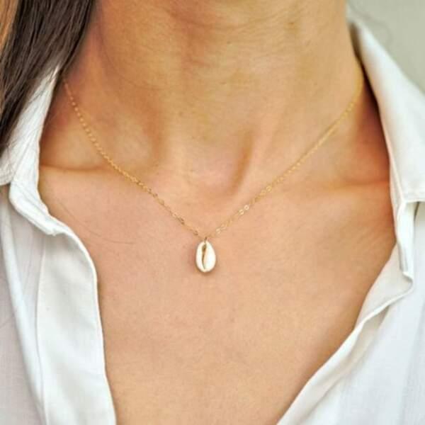 Collier coquillage, sur Bijoux créateur en ligne, 15€