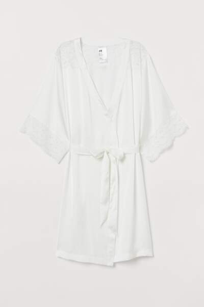 H&M - Peignoir satin, 29.99€