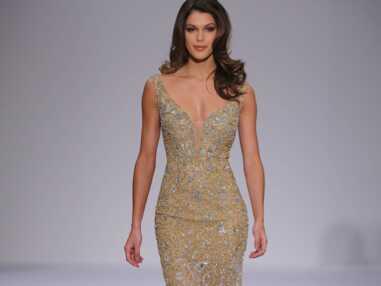Iris Mittenaere (Miss Univers) défile pour la fashion week de New York