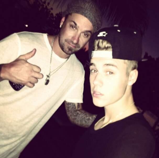Justin Bieber  et son papa Jeremy