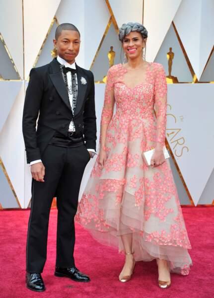 Les plus beaux couples des Oscars 2017 : Pharrell Williams et Mimi Valdes