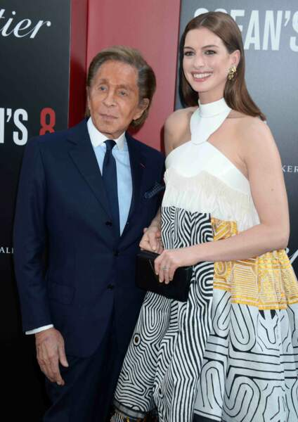 Le couturier Valentino et Anne Hathaway