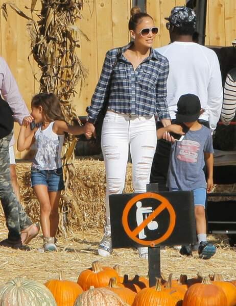 Jennifer Lopez est aussi venue en famille