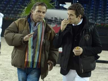 Guillaume Canet et Benjamin Castaldi aux Gucci Paris Masters