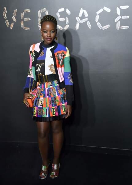 Lupita Nyong'o au défilé Versace, le 2 décembre 2018, à New York