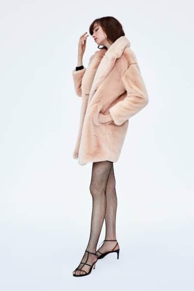 Manteau en fausse fourrure, Zara, 99,95€