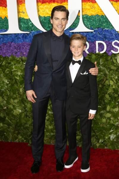 Matt Bomer et son fils à la 73ème cérémonie des Tony Awards