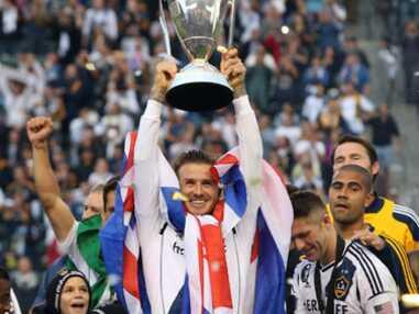 David Beckham fête une victoire en famille