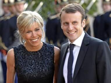 Emmanuel et Brigitte Macron à l'Elysée