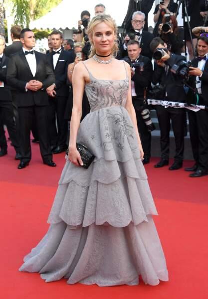 Cannes - Montée des Marches pour le 70ème anniversaire : Diane Kruger