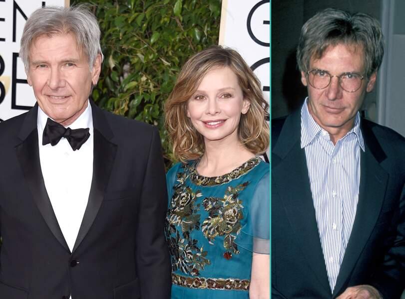 Harrison Ford aujourd'hui à 73 ans et à 51 ans, l'âge actuel de sa femme Calista Flockhart