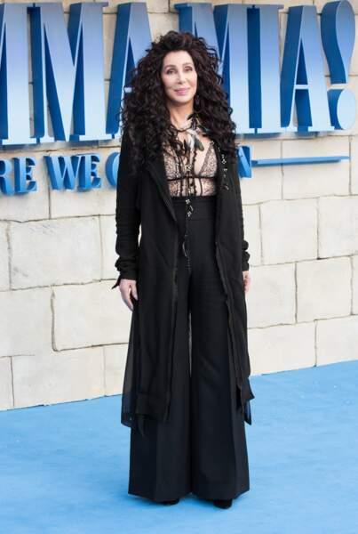 Cher à l'avant-première de Mamma Mia 2 à Londres, le 16 juillet