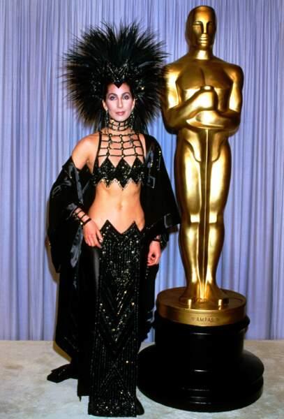 Cher à la 58e cérémonie des Oscars, en 1986