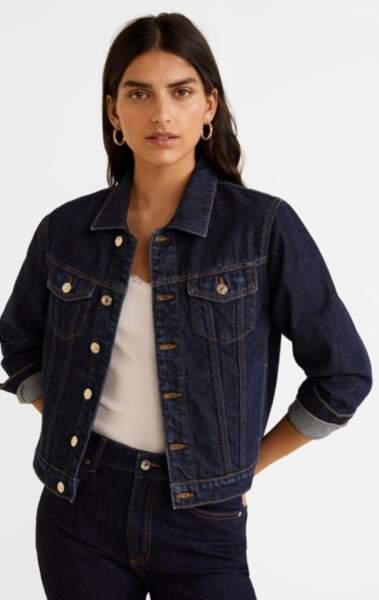 Veste en jean, Mango, actuellement à 29,99€ sur Zalando