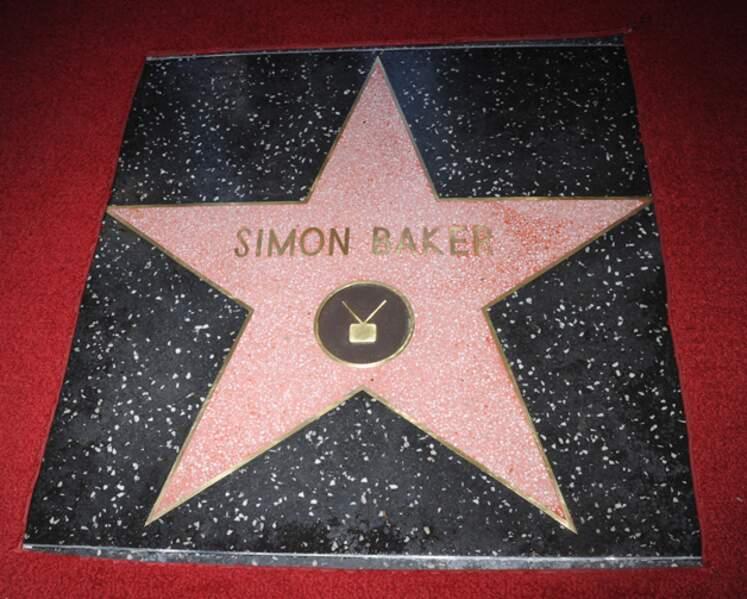 L'étoilede Simon Baker sur le Hollywood Walk of Fame