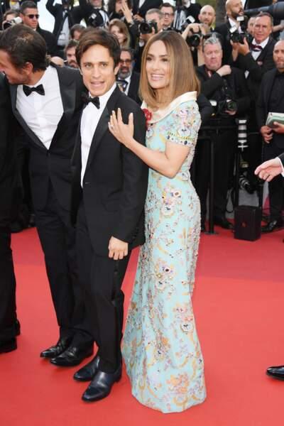 Cannes - Montée des Marches pour le 70ème anniversaire : Gael Garcia Bernal & Salma Hayek