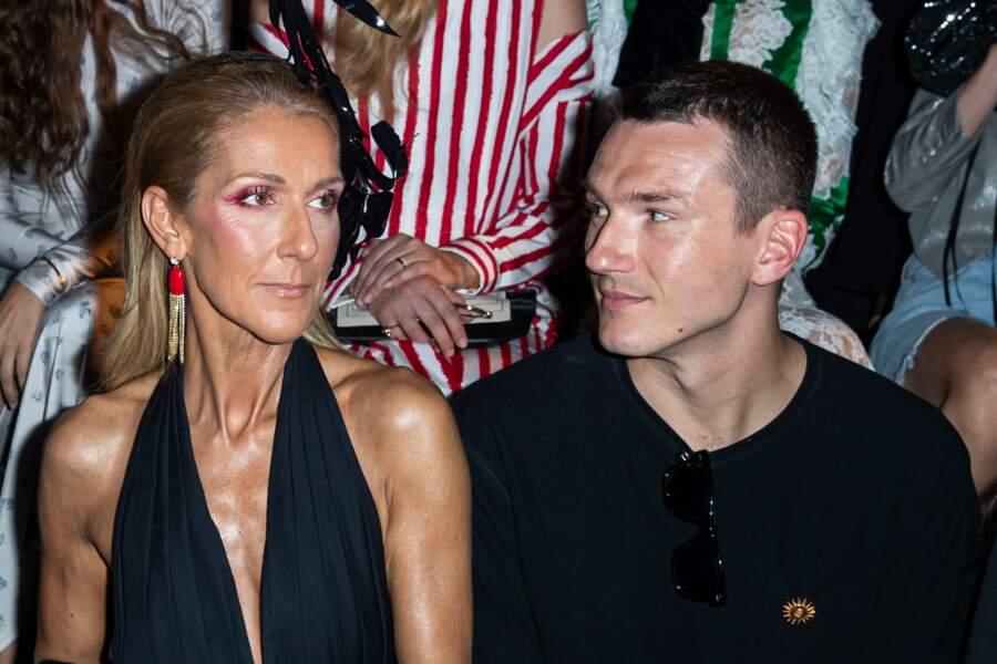 Céline Dion et Pepé Muñoz au défilé haute couture Schiaparelli à Paris