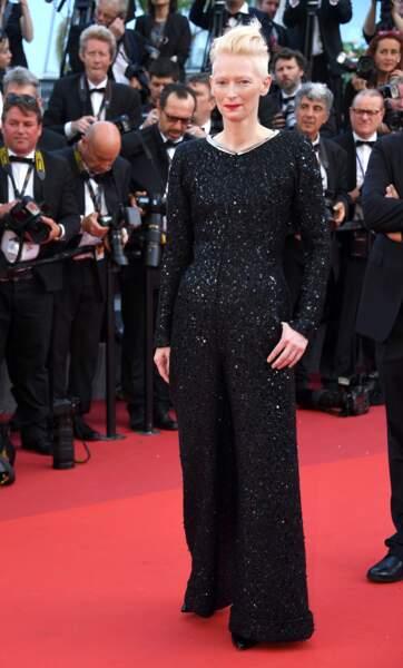 Cannes - Montée des Marches pour le 70ème anniversaire : Tilda Swinton