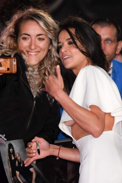 Michelle Rodriguez à l'avant-première de Widows, à Londres, le 10 octobre 2018