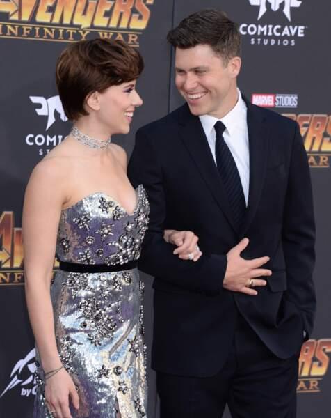 Première mondiale d'Avengers: Infinity War - Scarlett Johansson et Colin Jost