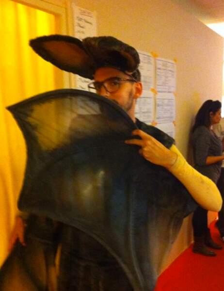 Christophe Willem a hérité du costume de chauve-souris