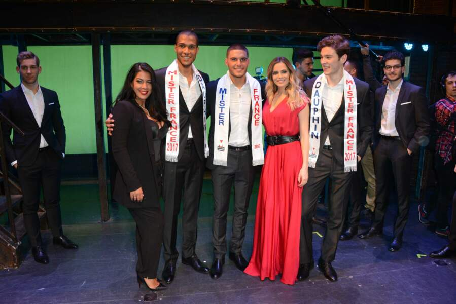Élection Mister France 2017 : Ayem Nour et Clara Morgane avec Mister France et ses deux dauphins