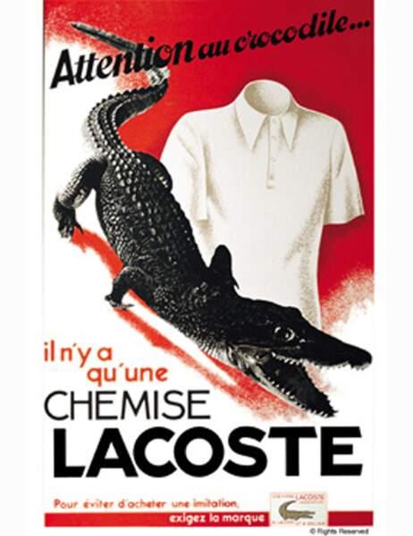 Première publicite Lacoste en 1933