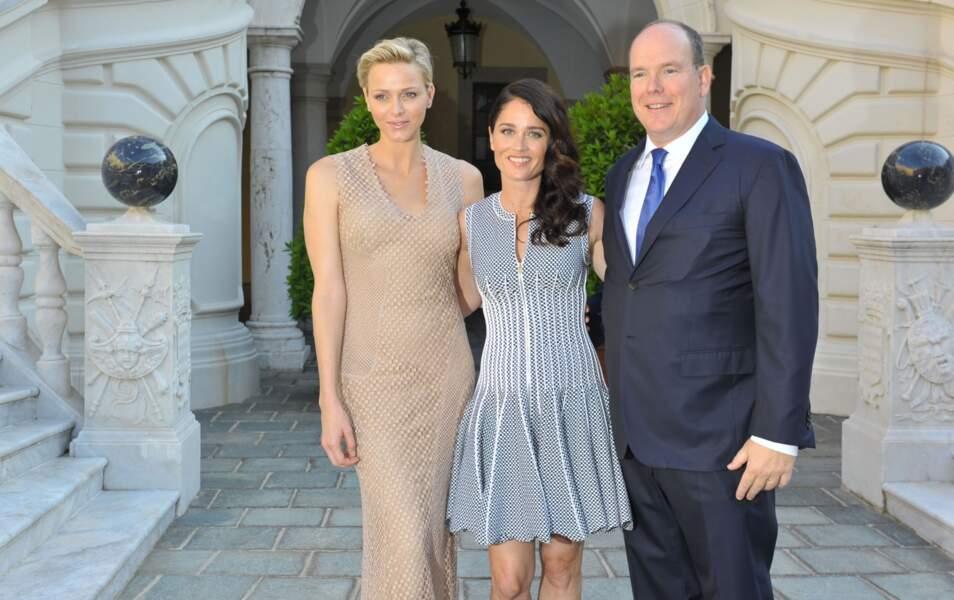 La Princesse Charlène, Robin Tunney et le Prince Albert
