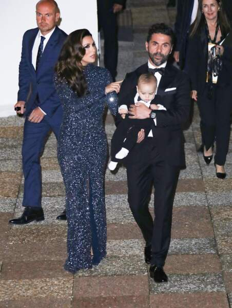 Global Gift Gala 2019 : Eva Longoria a fait son entrée en famille avec José Bastòn et Santiago
