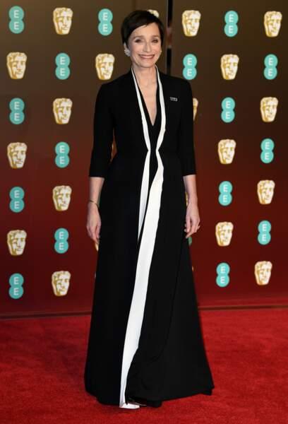 Kristin Scott Thomas aux BAFTA Film Awards 2018 à Londres, le 18 février