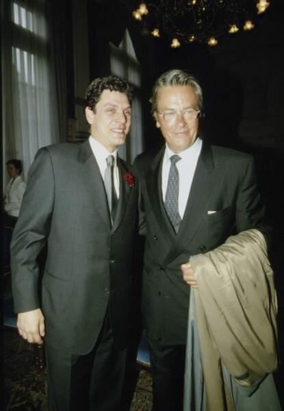 Mariage de Marc Lavoine et Sarah Poniatowski le 16 mai 1995, avec Alain Delon