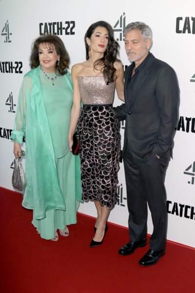 Baria Alamuddin accompagne Amal et George Clooney