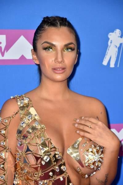 Natalie Halcro aux MTV Video Music Awards 2018, le 20 août, à New York