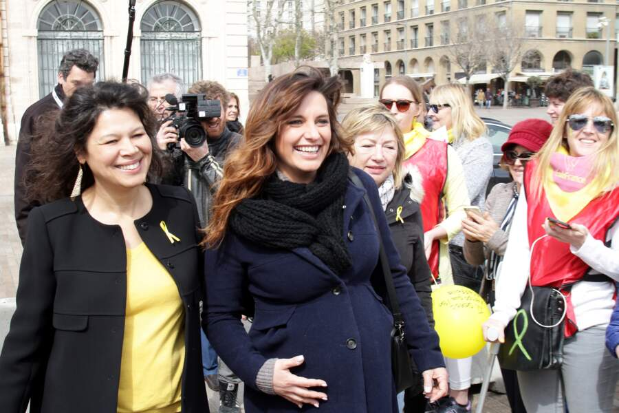 Laëtitia Milot avait rendez-vous sur le vieux port de Marseille pour la marche mondiale contre l'endométriose